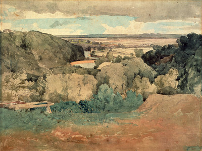 Barnard Castle from Towler Hill by John Sell Cotman - print