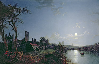 Morning with a View of Kirkstall Abbey by Henry Pether - print
