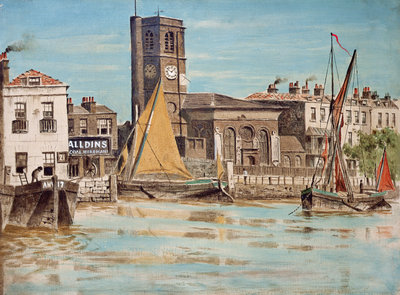 Chelsea Parish Church by Walter Greaves - print