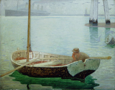The Outward Bound, 1912 by Frederick Cayley Robinson - print
