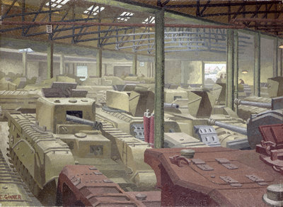 Royal Ordnance Stores by Charles Ginner - print