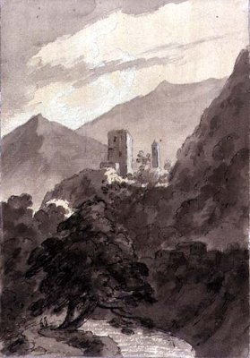 In the Grisons by John Robert Cozens - print