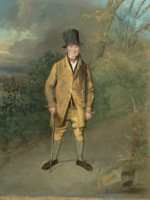 Portrait of a Gardener from Bramham Park, Yorkshire, c.1822 by George Garrard - print