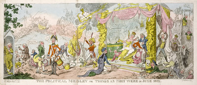 'The Political Medley' or 'Things as They Were in June 1812', pub. 1812 by George Cruikshank - print