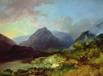 Landscape in the Lake District by Philip James Loutherbourg - print