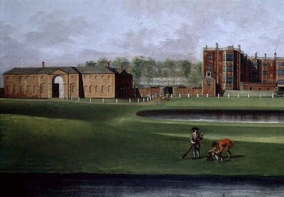 View of Temple Newsam House, detail of the riding school, c.1750 by James Chapman - print