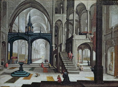 Procession in a Cathedral by Bartolomeus van Bassen - print