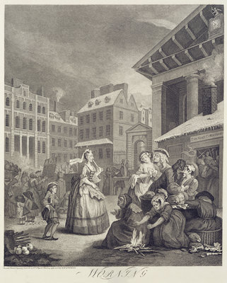 Times of the Day: Morning Fine Art Print by William Hogarth