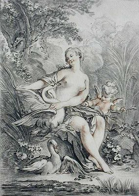 Mythological subject, engraved by Giles Demarteau by Francois Boucher - print