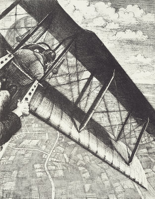 Banking at 4000 feet, c. 1918 by Christopher Richard Wynne Nevinson - print