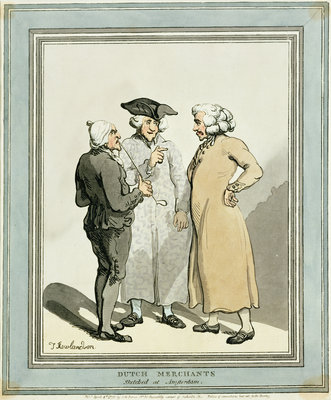 Dutch Merchants, 1796 by Thomas Rowlandson - print