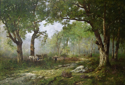 The Forest of Fontainebleau, 1890 by Leon Richet - print
