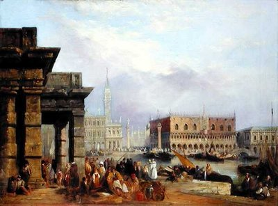 View of Venice by Edward Pritchett - print