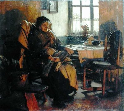 In the Firelight, 1900 by Walter Langley - print