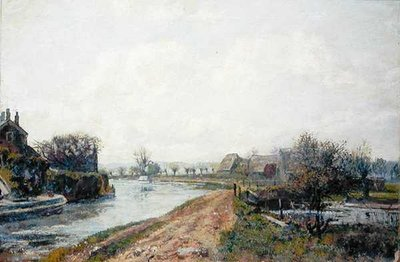 Canal, Rickmansworth, 1908 by John William Buxton Knight - print