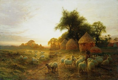 Yon Yellow Sunset Dying in the West by Joseph Farquharson - print