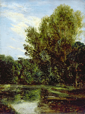 Corner of Hampstead Ponds Fine Art Print by John Constable