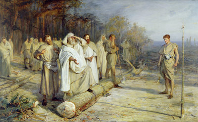 Fixing the Site of an Early Christian Altar, 1884 by John Pettie - print