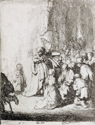 Presentation in the Temple Fine Art Print by Rembrandt Harmensz. van Rijn