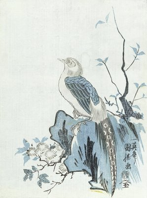 Bird on a Rock by Japanese School - print