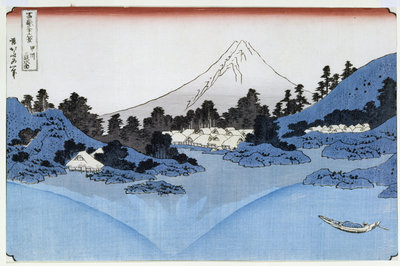 Mount Fuji Reflected in Lake Misaica, from the series '36 Views of Mount Fuji' by Katsushika Hokusai - print