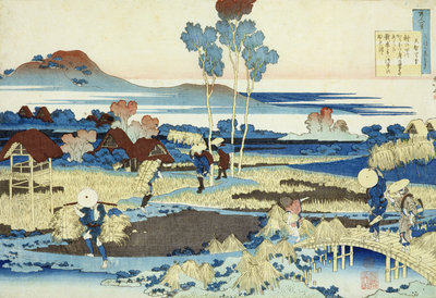 Harvesters at Work by Katsushika Hokusai - print