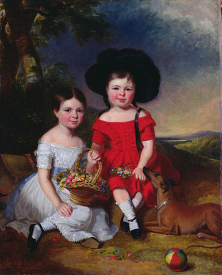 Annie and John Edward, children of Thomas Rhodes of Leeds by William Keighley Briggs - print