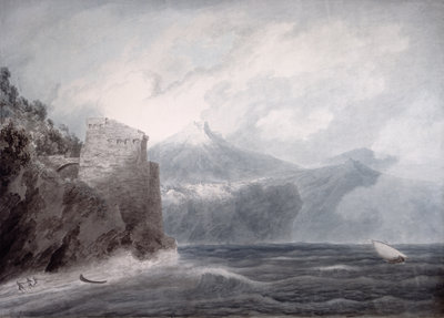 The Castle of Salerno, near Cetara by John Robert Cozens - print