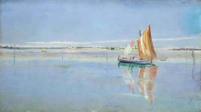 On the Lagoon, Venice by John William Inchbold - print