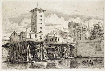 The Pump, Notre Dame, 1852 by Charles Meryon - print