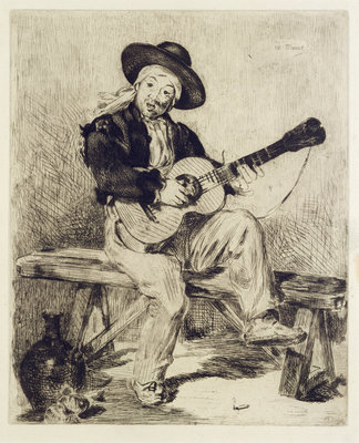 The Guitarist by Edouard Manet - print