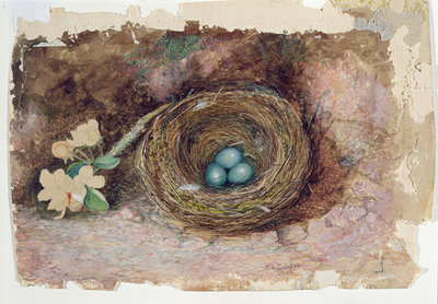 Birds Nest, 1863 by John Atkinson Grimshaw - print
