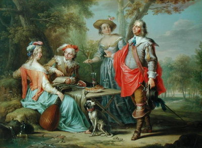 Picnic in the Park by Frans Christoph Janneck - print