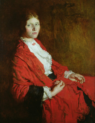 The Red Scarf by Sir William Orpen - print