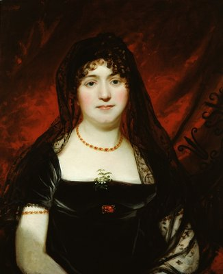 Portrait of Mary Sarah Oliver by English School - print