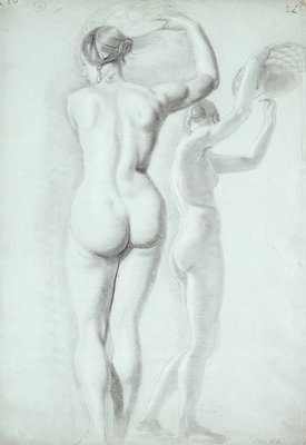 Figure studies by William Etty - print