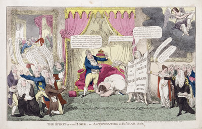 The Spirit of the Book or, Anticipation of the Year 1813, 1813 by George Cruikshank - print