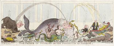The Prince of Whales or The Fisherman at Anchor, 1812 by George Cruikshank - print