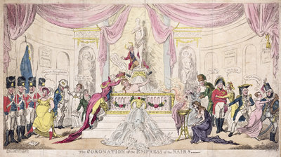 The Coronation of the Empress of the Nairs, 1819 by George Cruikshank - print