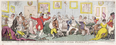 Princely Amusements or The Humors of the Family, 1812 by George Cruikshank - print