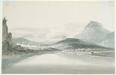 Lake of Klontal, after John Robert Cozens by Joseph Mallord William Turner - print
