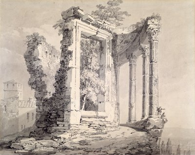 Temple of the Sibyl, Tivoli by Joseph Mallord William Turner - print