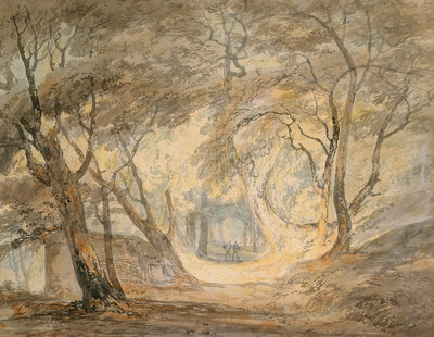 Woodland Scene with Figures, c.1798 by Joseph Mallord William Turner - print