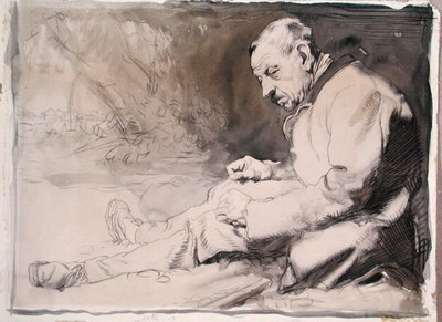Study of an Old Man by Sir William Orpen - print