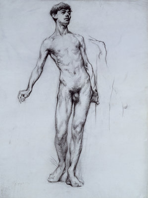 Nude Young Man by Sir William Orpen - print