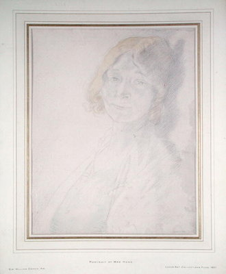 Portrait of Mrs Hone by Sir William Orpen - print