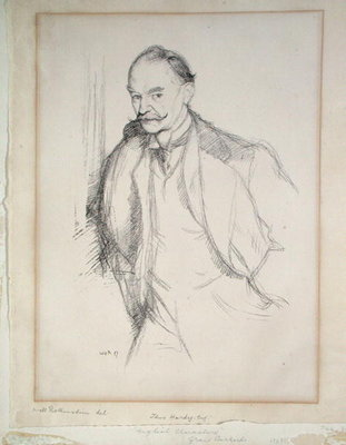 Portrait of Thomas Hardy Wall Art & Canvas Prints by Sir William Rothenstein
