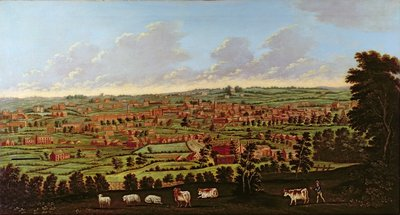 Prospect of Leeds, c.1800 by Nathan Theodore Fielding - print