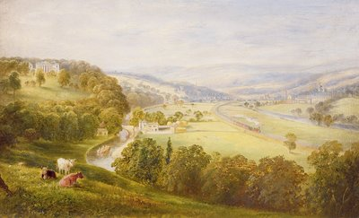 Valley of the Aire, Armley Pastures and Kirkstall, 1853 by George Alexander - print