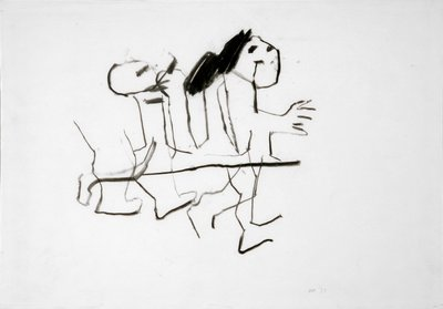 Scurrying Figure, 1977 by Kenneth Armitage - print